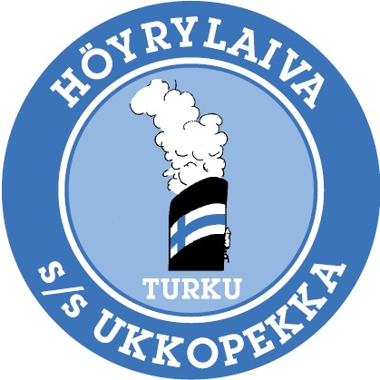 Ukkopekka s/s Höyrylaivaosakeyhtiö / Herrankukkaro Oy - Logo