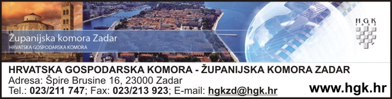 HRVATSKA GOSPODARSKA KOMORA - ŽUPANIJSKA KOMORA ZADAR