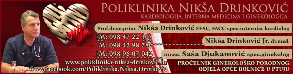 POLIKLINIKA ZA INTERNU MEDICINU I GINEKOLOGIJU Prof. dr. sc. NIKŠA DRINKOVIĆ