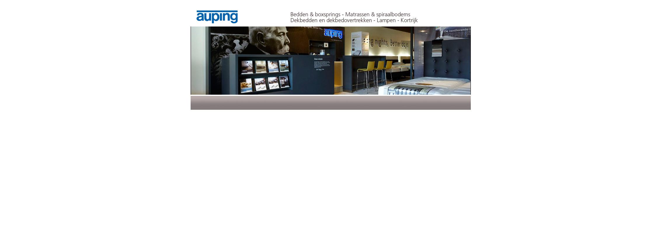 Lits & matelas - Dét. - Auping Plaza Kortrijk - 1
