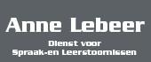 Logo Spraak- en Leerstoornissen Anne Lebeer