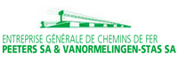 Logo ENTREPRISE GENERALE DE CHEMINS DE FER PEETERS sa &VANORMELINGEN - STAS sa