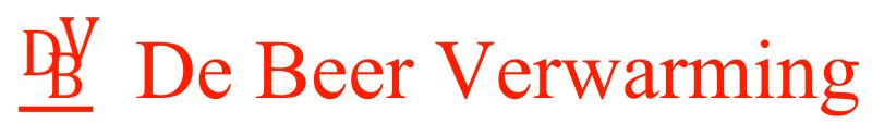 Logo De Beer Verwarming