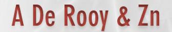 Logo A De Rooy & Zn