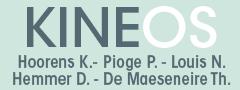 Logo Cabinet Kineos : Kevin Hoorens, Noémie Louis, Pauline Pioge.