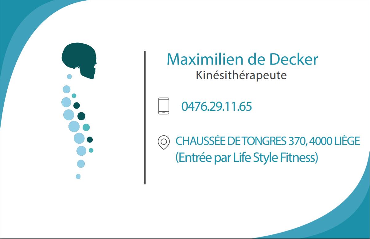Logo Maximilien de Decker, Dhr.