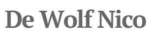 Logo De Wolf Nico