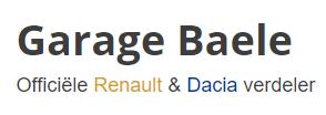 Logo Garage Baele