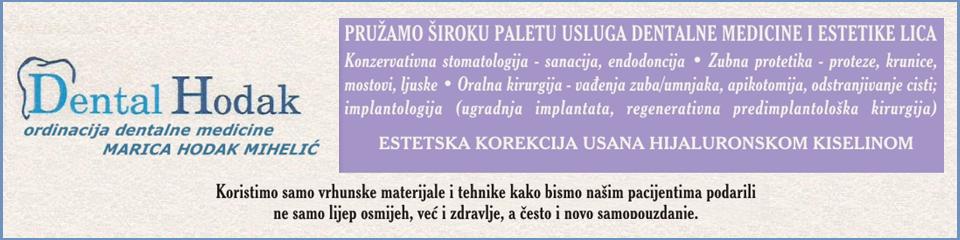 ORDINACIJA DENTALNE MEDICINE MARICA HODAK MIHELIĆ, dr.med.dent.