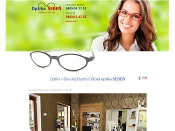 7ff0ae507 OPTIKA ŠEBEŇ, Banská Bystrica - Tel.: +421484134... >> Očná optika ...